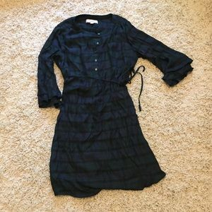 :loft: plaid maternity dress
